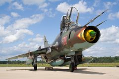 Su-22 monteur Royalty-vrije Stock Foto
