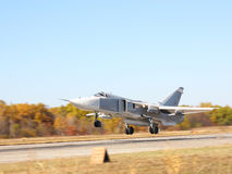 Su-24 Fencer. Military jet bomber Su-24 Fencer on launch stock image