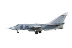 Su-24 Fencer on take off stock photography