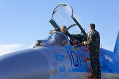 Su-27 Stock Photography
