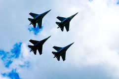 The_SU-27_airplanes Stock Photo