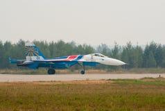 Su-27 aterrado Imagens de Stock