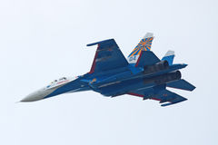 SU-27 fighter Stock Images