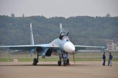 Su-27 fighter Stock Image