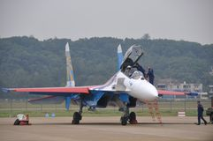 Su-27 fighter Royalty Free Stock Photos