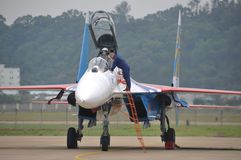 Su-27 fighter Stock Image