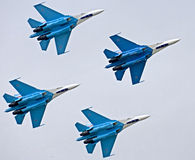 Su-27 interceptors 1 Stock Afbeelding