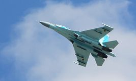 Su-27 jet fighter Royalty Free Stock Photography