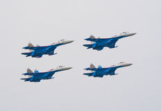 Su-27 jets from Russkie Vityazi team Royalty Free Stock Image