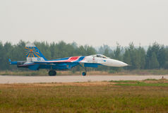 Su-27 landed Stock Images