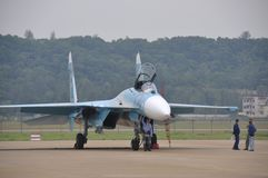 Su-27 vechter Stock Afbeelding