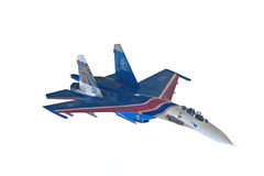 SU-27 war-plane top view Stock Image