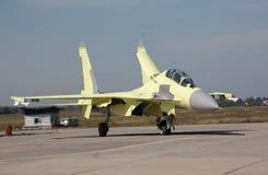 Su-30MK enkel geland Royalty-vrije Stock Afbeeldingen