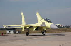 Su-30MK just landed Royalty Free Stock Images