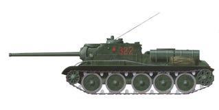 Su-85 gemotoriseerd kanon stock illustratie