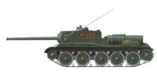 SU-85 self propelled gun Stock Images