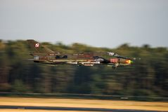 Su-22 ajustador Polish Air Force imágenes de archivo libres de regalías