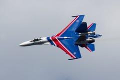 Su-27 au salon de l'aéronautique Image libre de droits