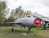 Su 7B战斗机轰炸机(1959),第一架超级声波战斗轰炸机 图库摄影