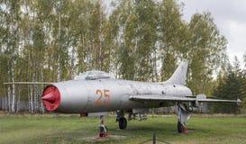 Su 7B战斗机轰炸机(1959),第一架超级声波战斗轰炸机 库存图片