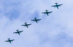 8 Su-25BM Frogfoot Düsenflugzeug mit Col. Lizenzfreies Stockfoto