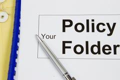 Su carpeta de la política Imagen de archivo libre de regalías