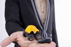 Su coche. imagen de archivo