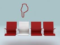 Su concepto especial del asiento, rendido en 3d Imagen de archivo