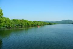 Su di of west lake of China in March stock photos