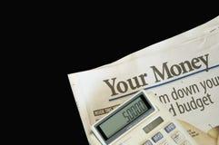 Su dinero Foto de archivo libre de regalías