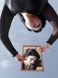 Su e giù la donna Immagini Stock Libere da Diritti