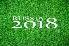 2018 su erba Immagini Stock