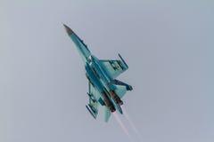 SU-27 exécutant à la POLARISATION 2016 Photo libre de droits