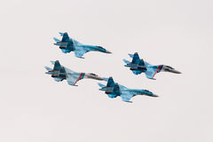 Su-27 fighter jets Stock Images