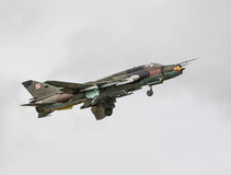 SU22 fighter taking off Royalty Free Stock Photography