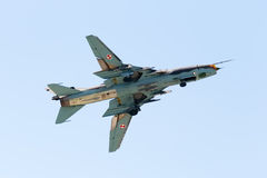 Su-22 Fitter. On the airshow, SIAF 2013 - Slovakia - Sliac Royalty Free Stock Photography