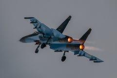 Su-27 Flanker Immagini Stock