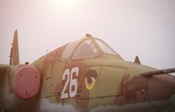 SU-25 Flanker, Airforce days. Close up royalty free stock photo