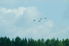 Su 27 flanker fighter aircraft group Royalty Free Stock Image