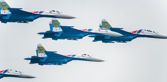 SU-27 flight performance Royalty Free Stock Images