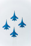 SU-27 flight performance Royalty Free Stock Image