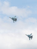 Su-30 is flying high in the sky Royalty Free Stock Image