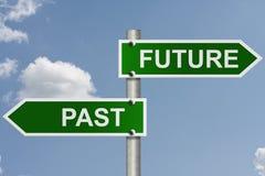 Su futuro y pasado Fotografía de archivo libre de regalías