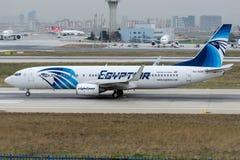 SU-GCR EgyptAir, Boeing 737-866 Obrazy Stock