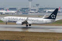 SU-GCS EgyptAir ,Boeing 737-866 ,Star Alliance Livery Royalty Free Stock Photos