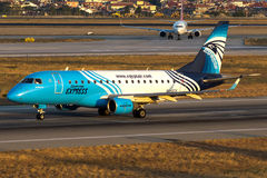 SU-GCV EgyptAir Express, Embraer 170-100LR Royalty Free Stock Photography