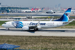 SU-GDE EgyptAir, Boeing 737-866 Royalty Free Stock Photos