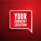 Su indicador de la ubicación actual Fotos de archivo