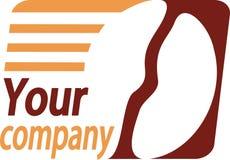 Su insignia de la compañía Foto de archivo libre de regalías
