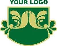 Su insignia de la compañía Fotos de archivo